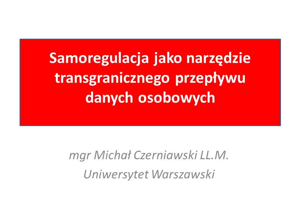 mgr Michał Czerniawski LL.M. Uniwersytet Warszawski