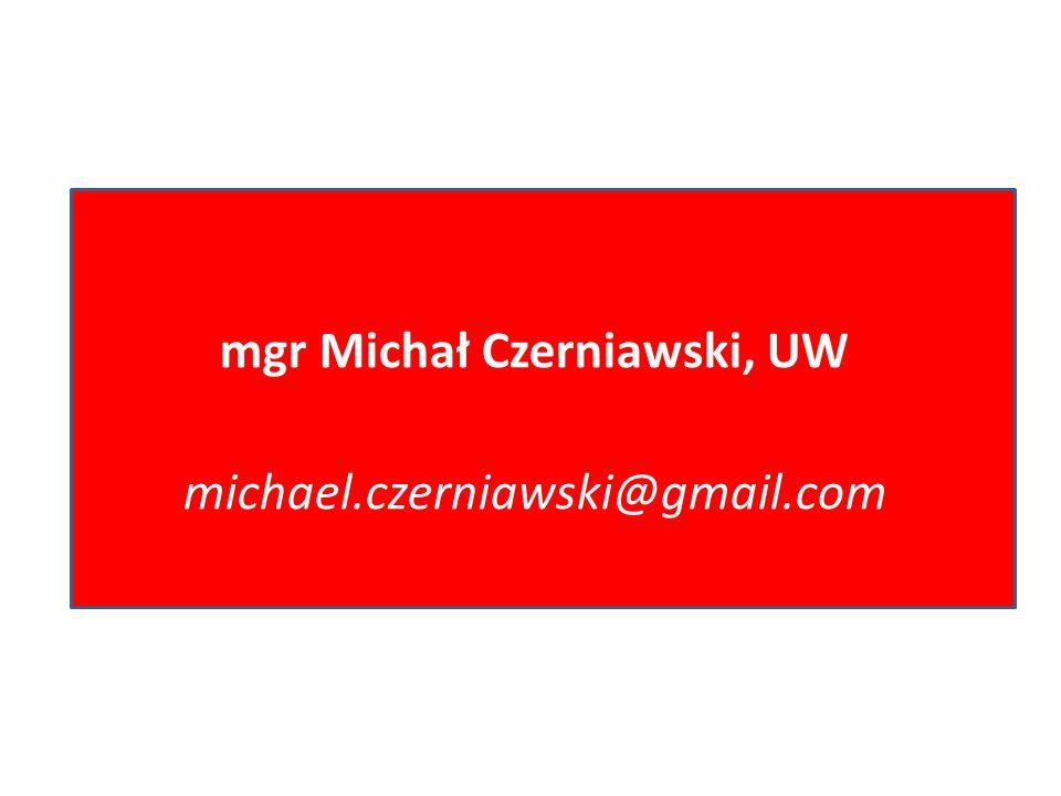 mgr Michał Czerniawski, UW