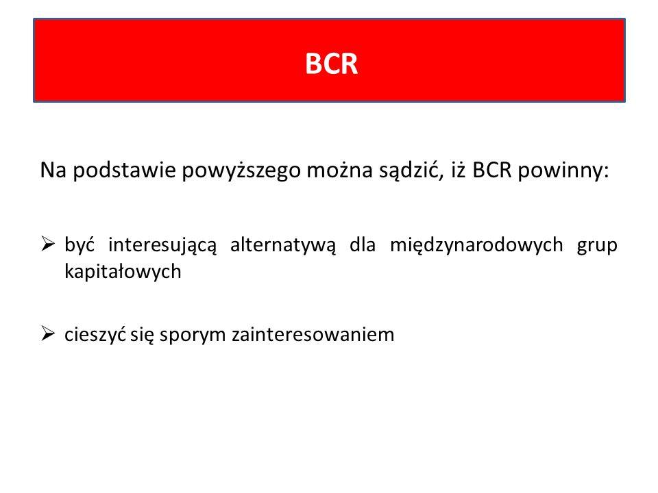 BCR Na podstawie powyższego można sądzić, iż BCR powinny: