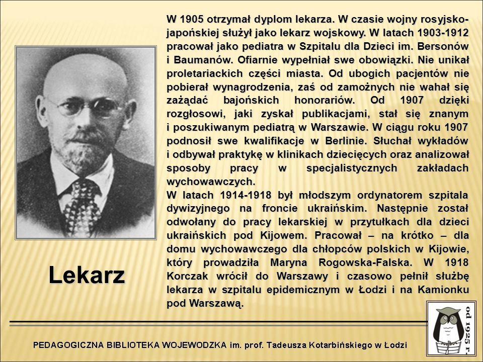 W 1905 otrzymał dyplom lekarza