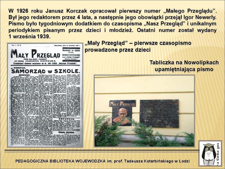 Tabliczka na Nowolipkach upamiętniająca pismo