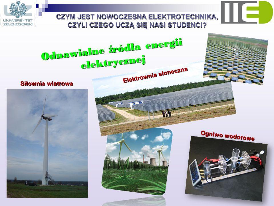 Odnawialne źródła energii elektrycznej Elektrownia słoneczna