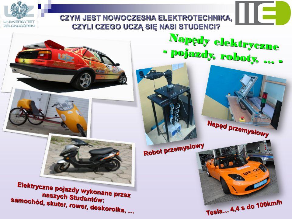 Napędy elektryczne - pojazdy, roboty, … -