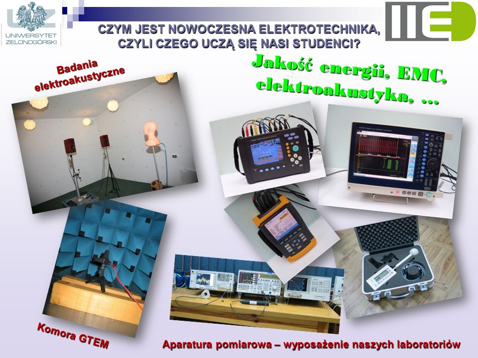 Jakość energii, EMC, elektroakustyka, …