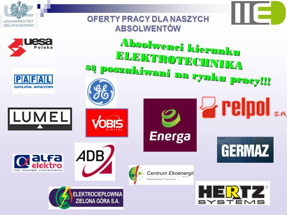 Absolwenci kierunku ELEKTROTECHNIKA są poszukiwani na rynku pracy!!!