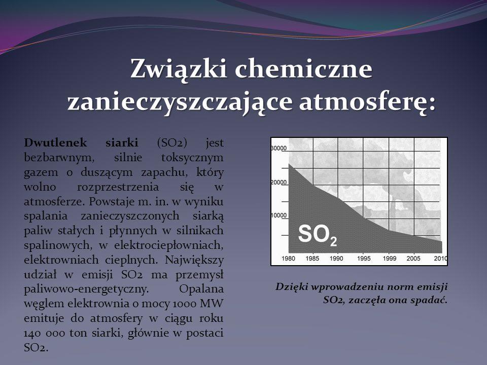 Związki chemiczne zanieczyszczające atmosferę: