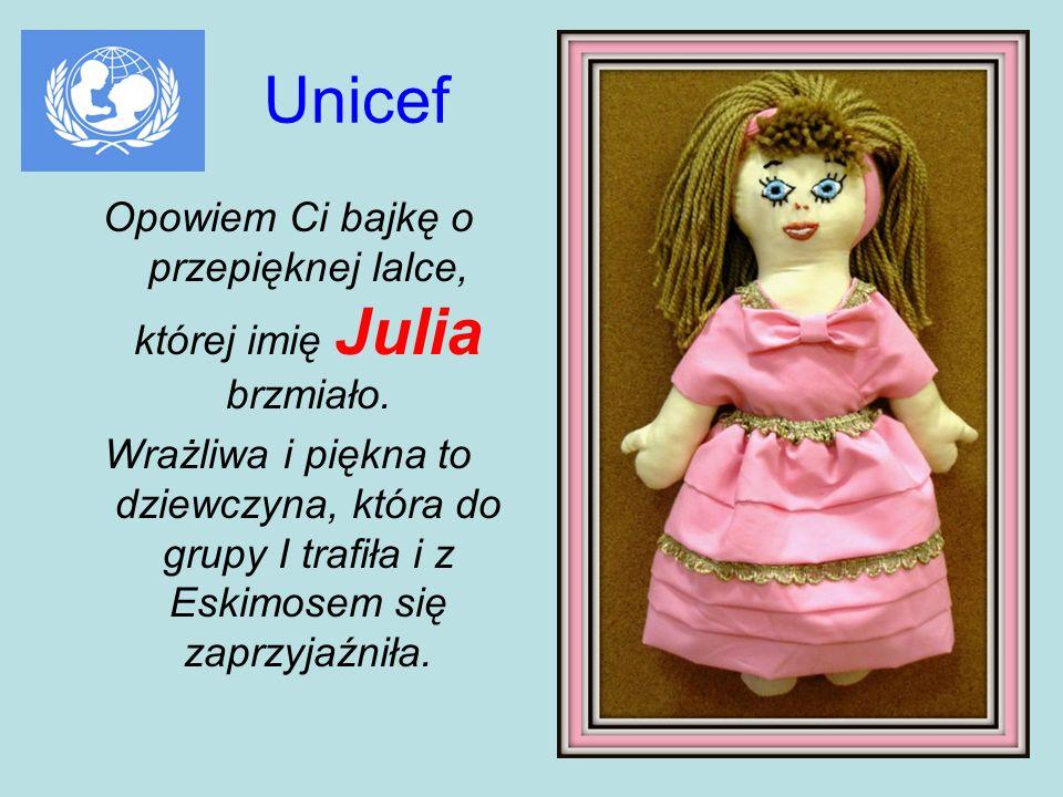 Opowiem Ci bajkę o przepięknej lalce, której imię Julia brzmiało.