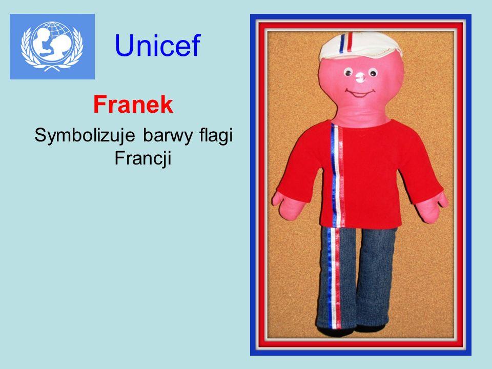 Symbolizuje barwy flagi Francji