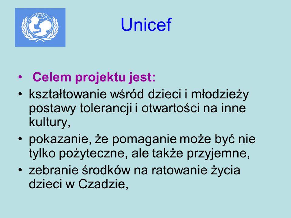 Unicef Celem projektu jest: