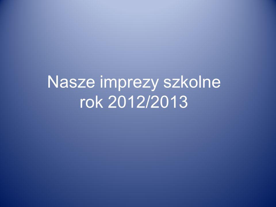 Nasze imprezy szkolne rok 2012/2013