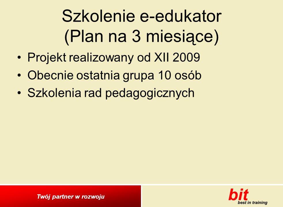 Szkolenie e-edukator (Plan na 3 miesiące)