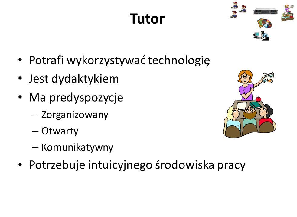 Tutor Potrafi wykorzystywać technologię Jest dydaktykiem