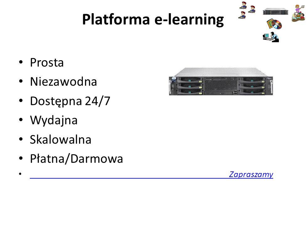 Platforma e-learning Prosta Niezawodna Dostępna 24/7 Wydajna