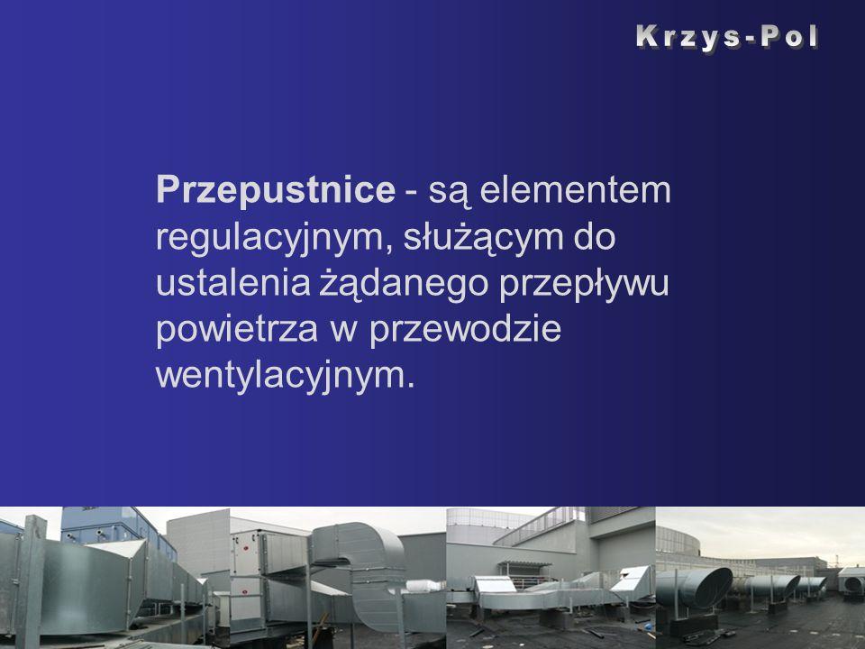 Krzys-Pol Przepustnice - są elementem regulacyjnym, służącym do ustalenia żądanego przepływu powietrza w przewodzie wentylacyjnym.