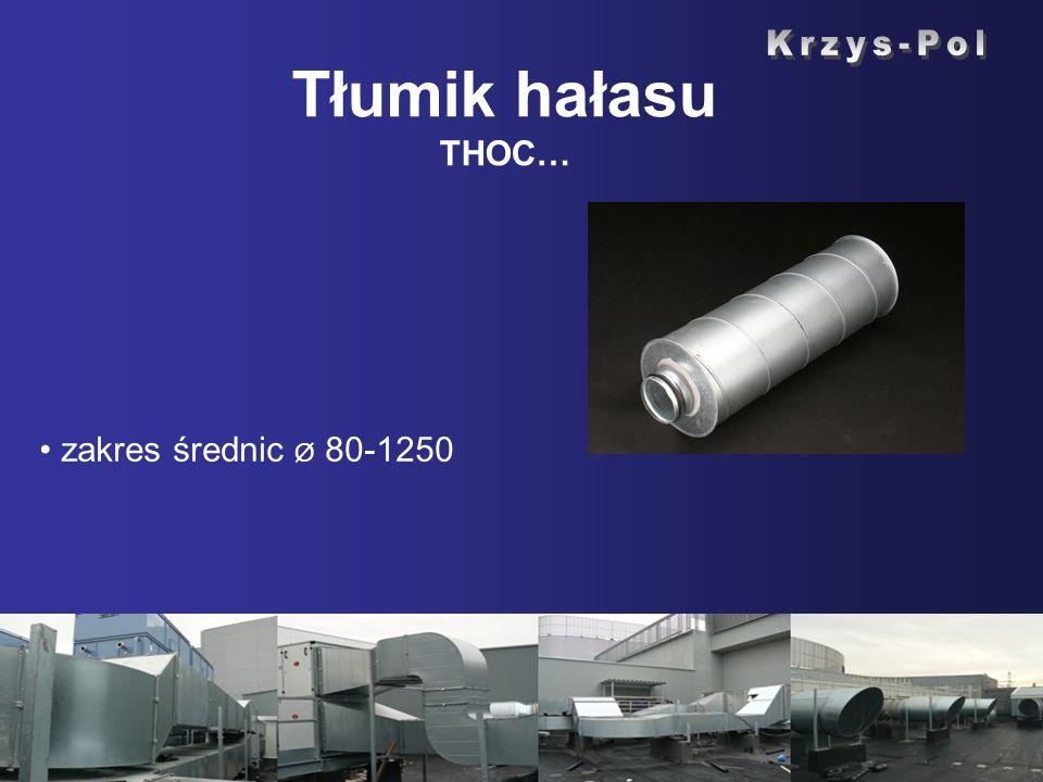 Tłumik hałasu THOC… Krzys-Pol zakres średnic Ø 80-1250