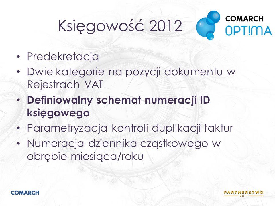 Księgowość 2012 Predekretacja