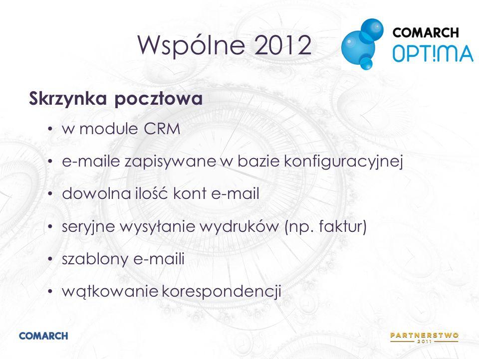 Wspólne 2012 Skrzynka pocztowa w module CRM