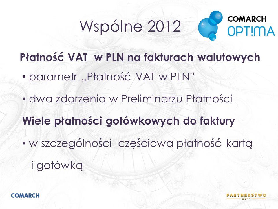 Wspólne 2012 Płatność VAT w PLN na fakturach walutowych