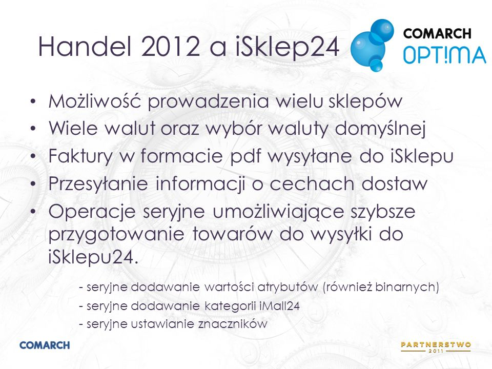 Handel 2012 a iSklep24 Możliwość prowadzenia wielu sklepów