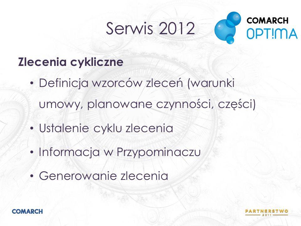 Serwis 2012 Zlecenia cykliczne