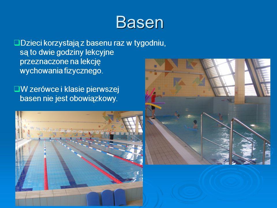 Basen Dzieci korzystają z basenu raz w tygodniu,