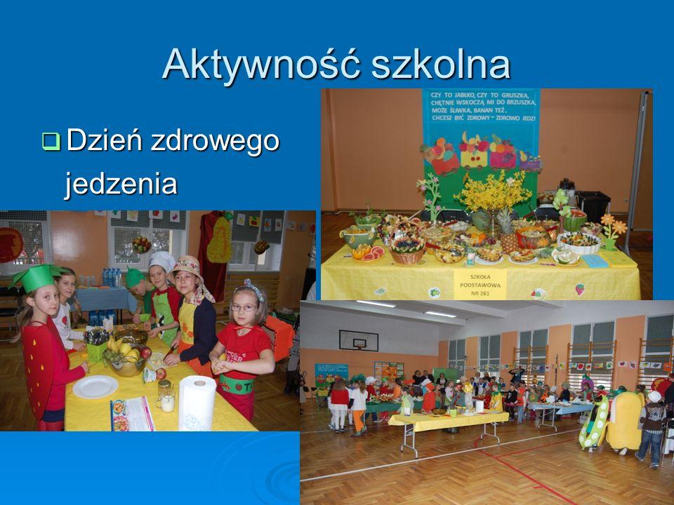 Aktywność szkolna Dzień zdrowego jedzenia