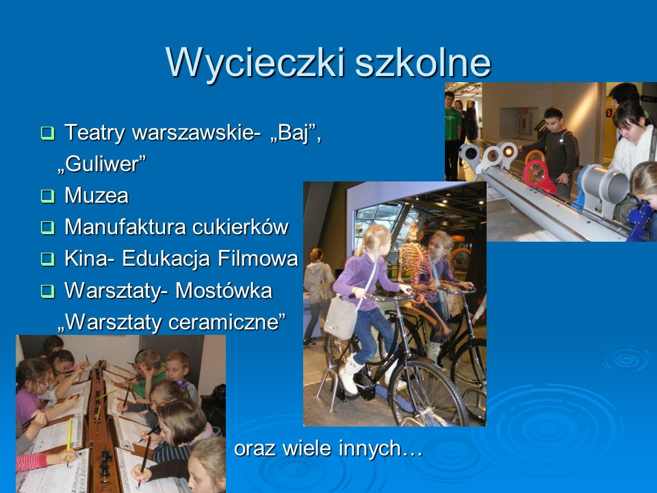 """Wycieczki szkolne Teatry warszawskie- """"Baj , """"Guliwer Muzea"""