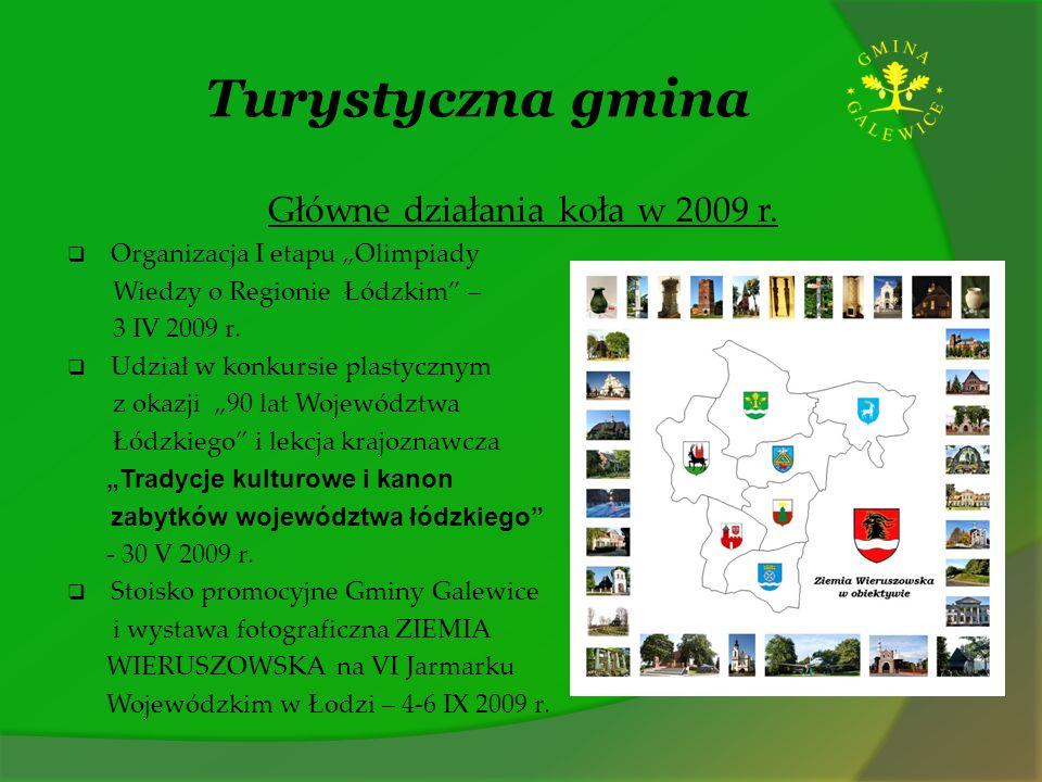 Główne działania koła w 2009 r.