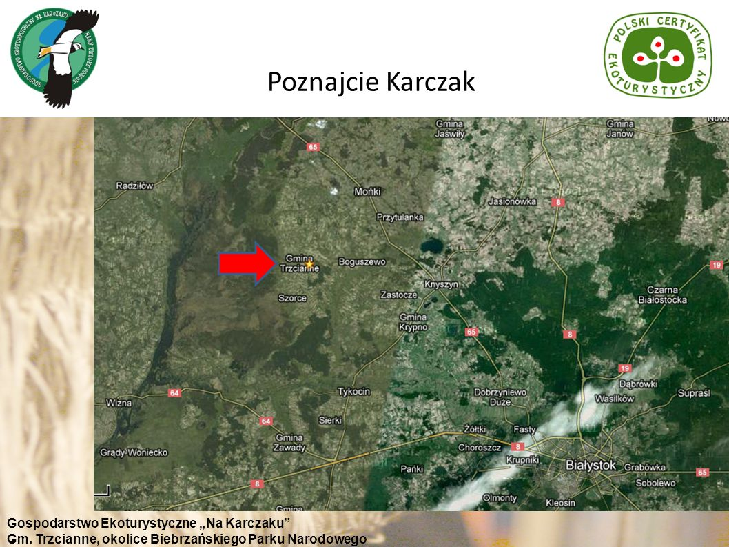 """Poznajcie Karczak Gospodarstwo Ekoturystyczne """"Na Karczaku"""