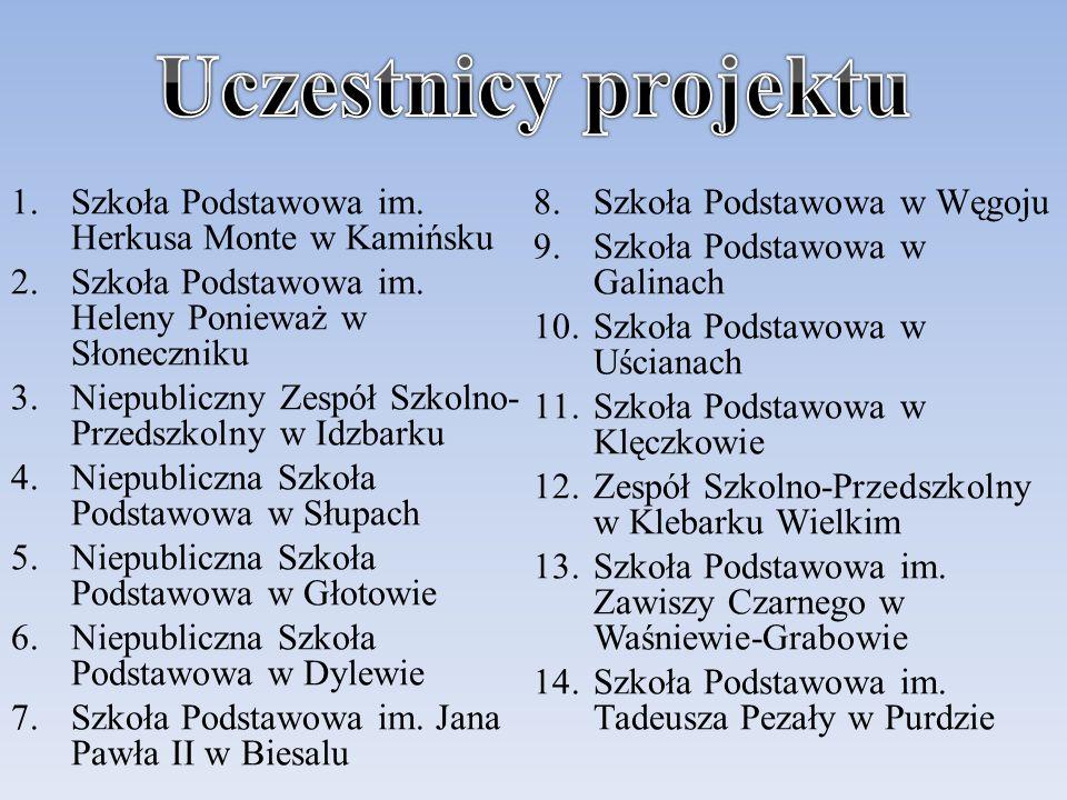 Uczestnicy projektu Szkoła Podstawowa im. Herkusa Monte w Kamińsku