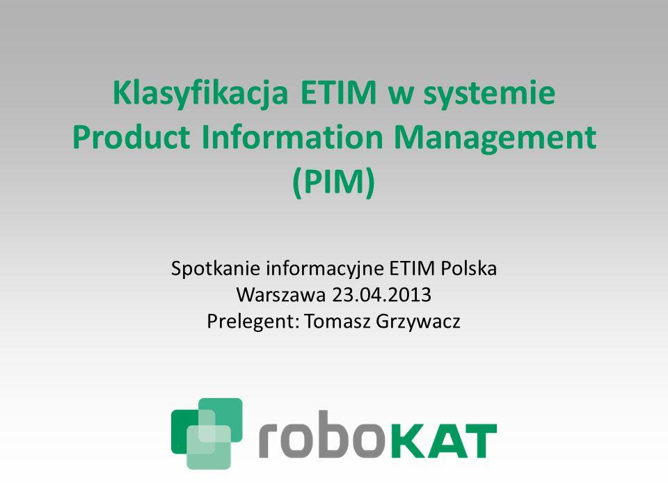 Klasyfikacja ETIM w systemie Product Information Management
