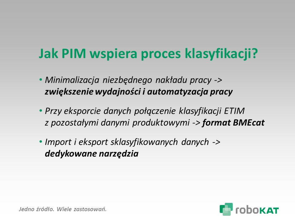 Jak PIM wspiera proces klasyfikacji