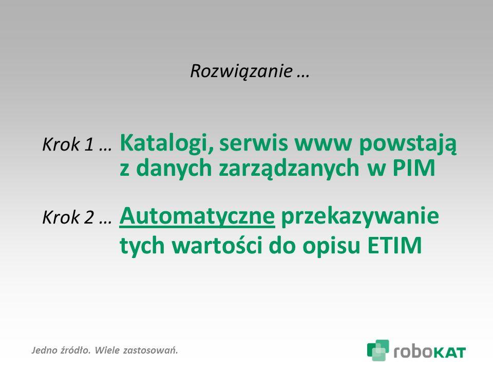 z danych zarządzanych w PIM tych wartości do opisu ETIM