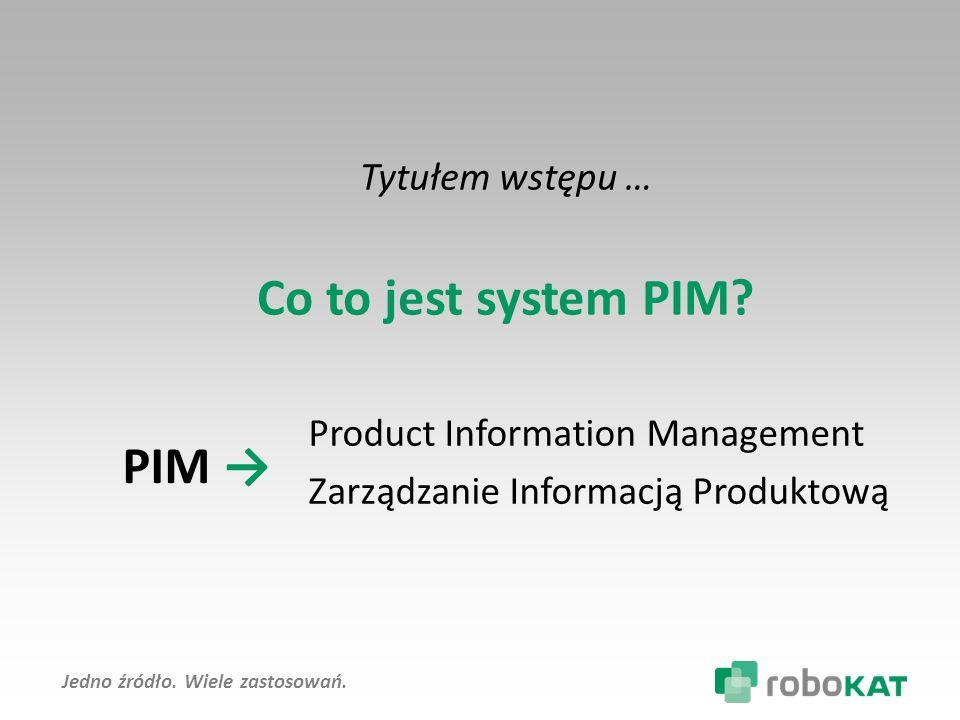 Co to jest system PIM PIM → Tytułem wstępu …