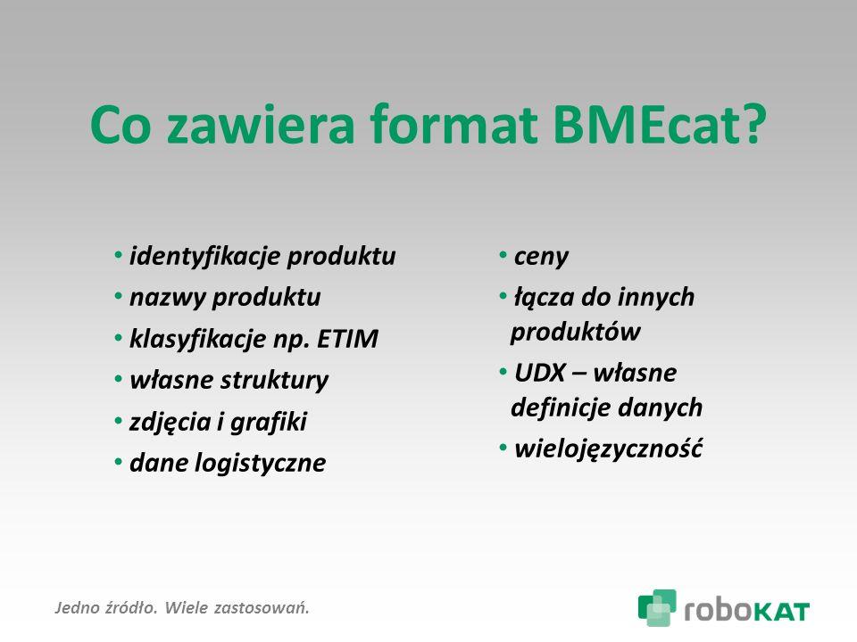 Co zawiera format BMEcat