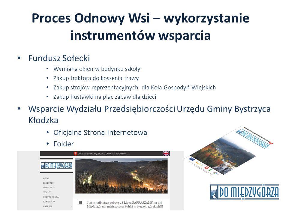 Proces Odnowy Wsi – wykorzystanie instrumentów wsparcia
