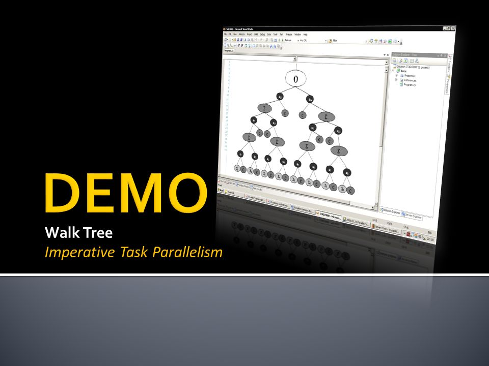 Walk Tree Imperative Task Parallelism