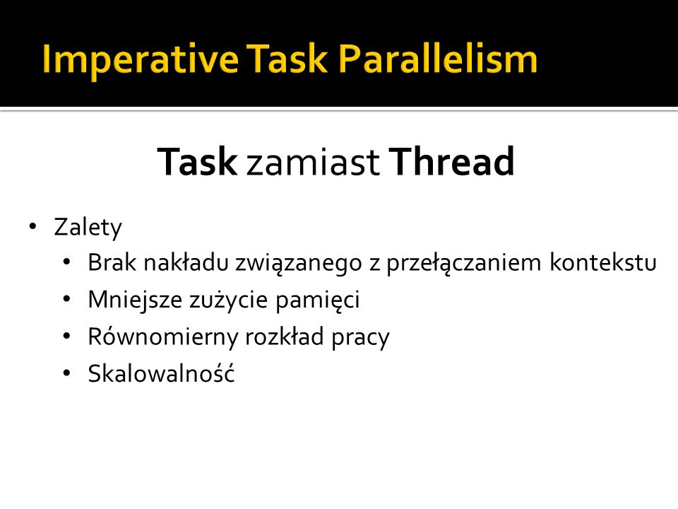 Imperative Task Parallelism