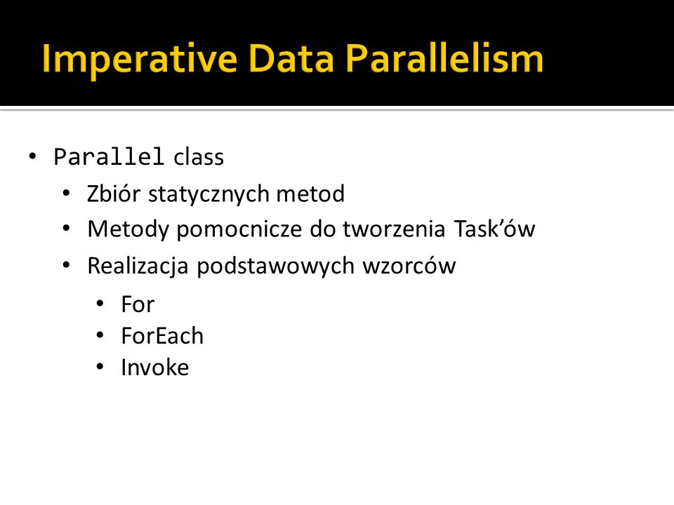 Imperative Data Parallelism