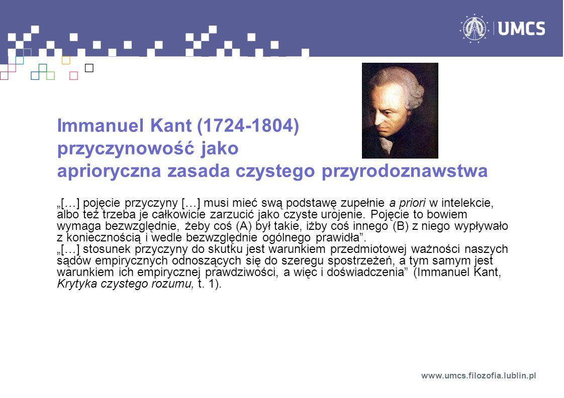 Immanuel Kant (1724-1804) przyczynowość jako