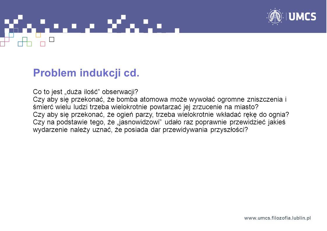 """Problem indukcji cd. Co to jest """"duża ilość obserwacji"""