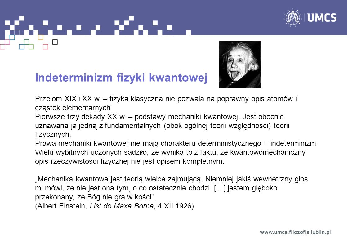 Indeterminizm fizyki kwantowej
