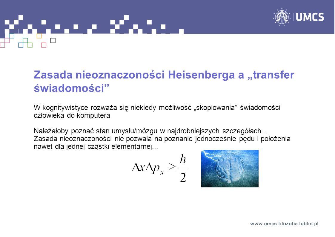 """Zasada nieoznaczoności Heisenberga a """"transfer świadomości"""