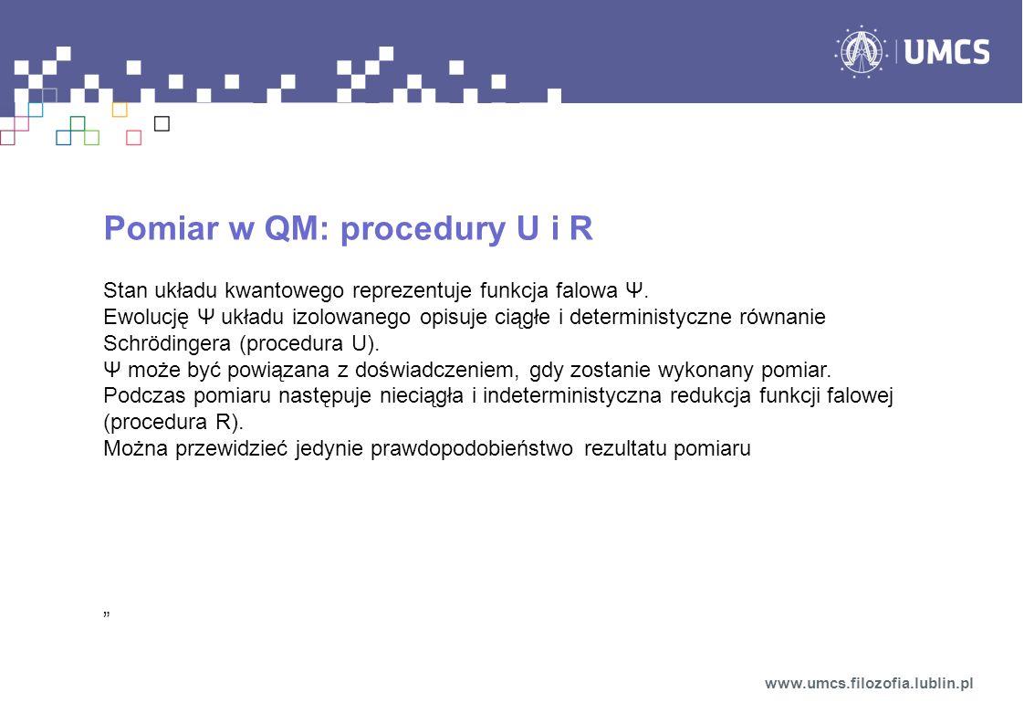 Pomiar w QM: procedury U i R