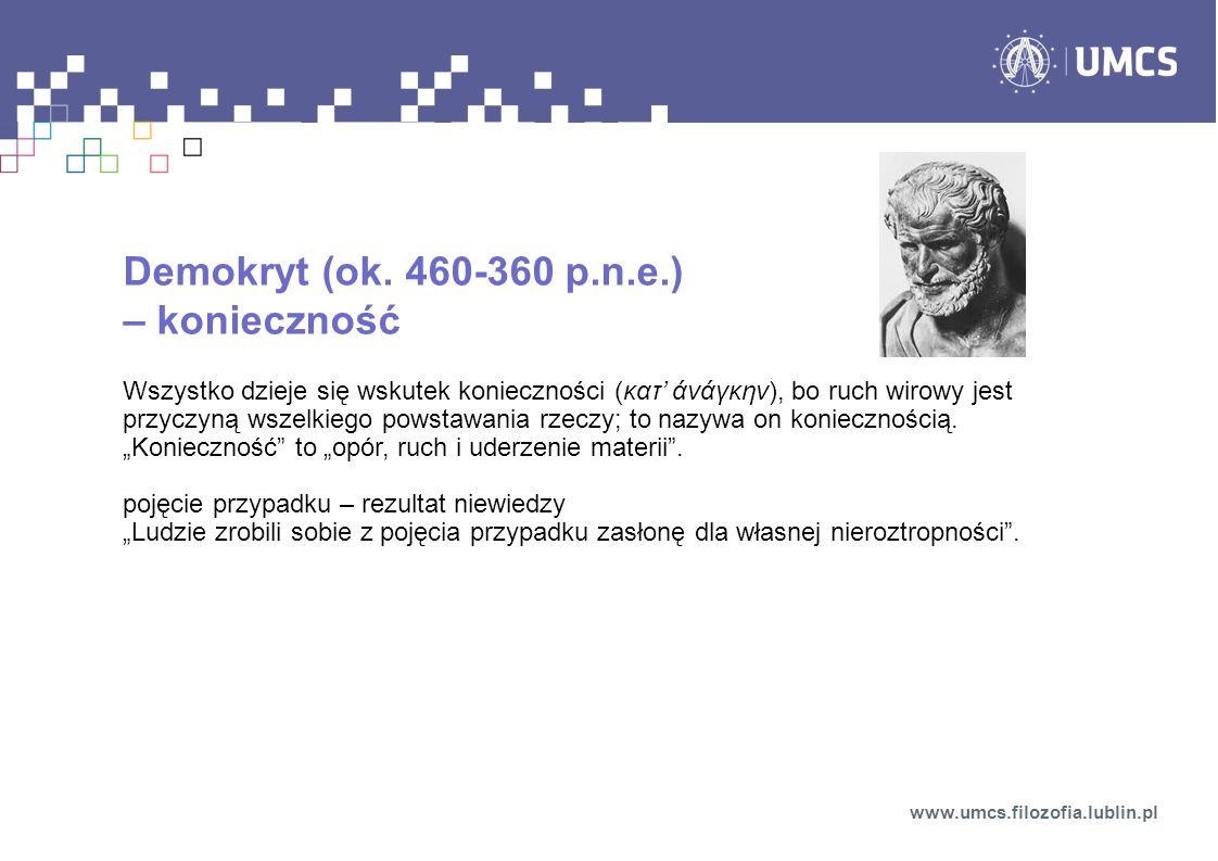 Demokryt (ok. 460-360 p.n.e.) – konieczność