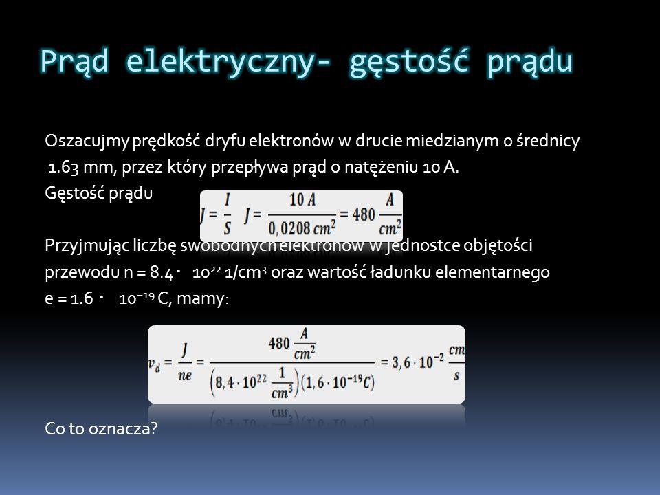 Prąd elektryczny- gęstość prądu