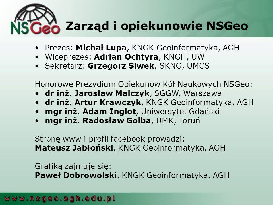 Zarząd i opiekunowie NSGeo