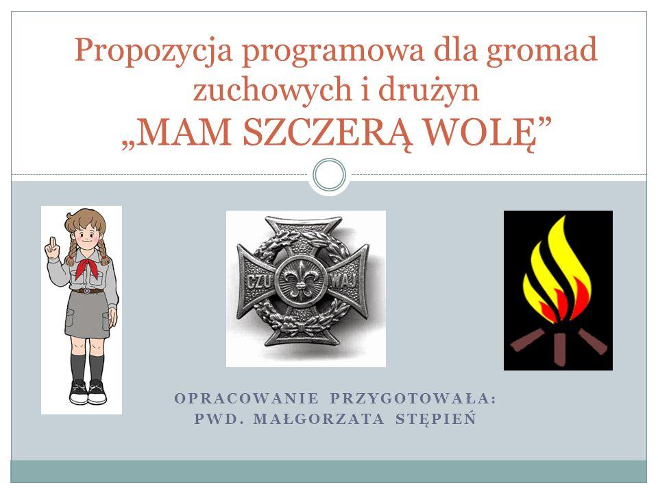 """Propozycja programowa dla gromad zuchowych i drużyn """"MAM SZCZERĄ WOLĘ"""