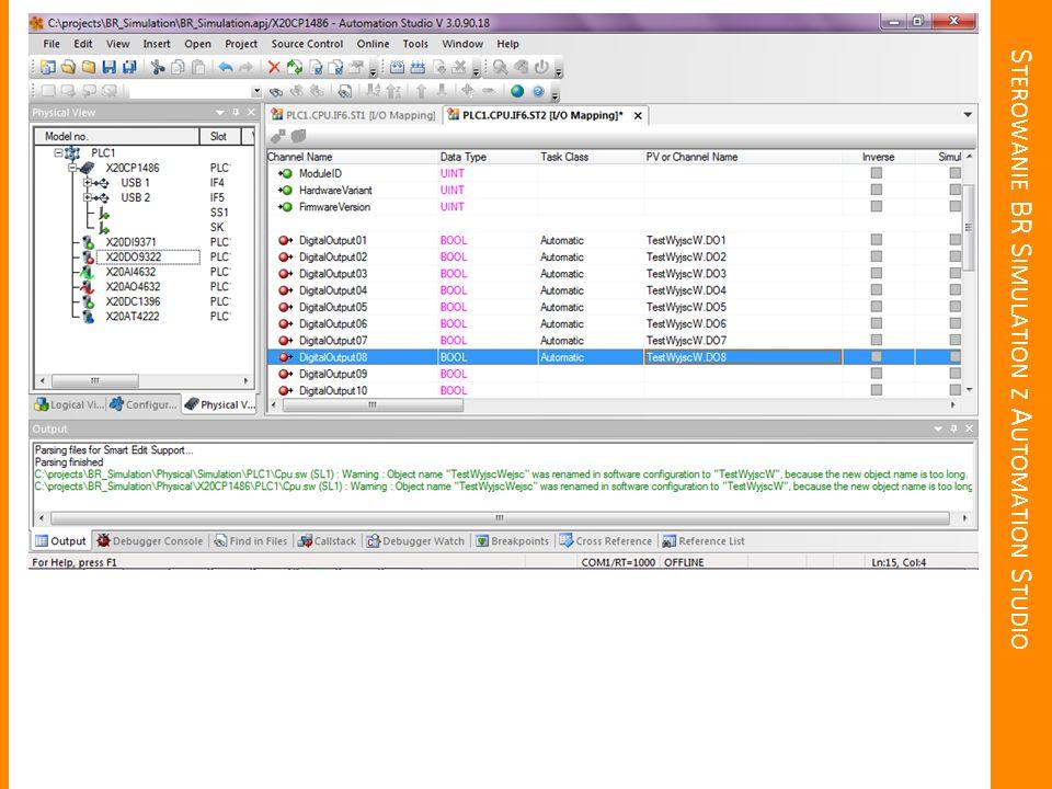 Sterowanie BR Simulation z Automation Studio