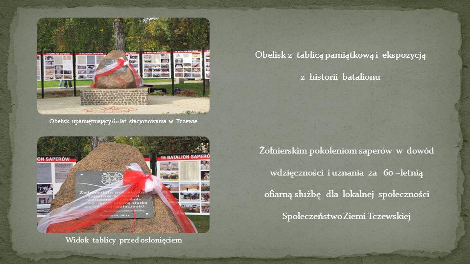 Obelisk z tablicą pamiątkową i ekspozycją z historii batalionu